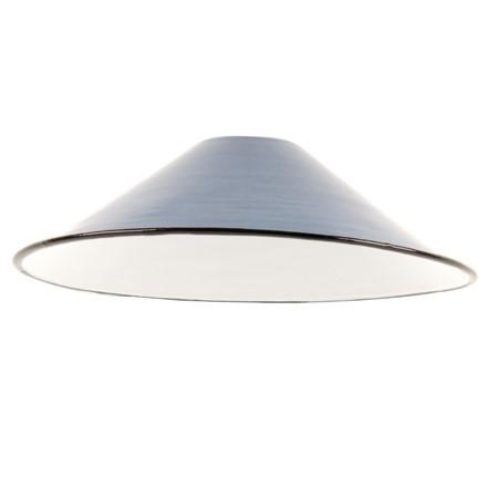 Small Enamel Light - Lamp shade - Blue - 8.5inch Dia