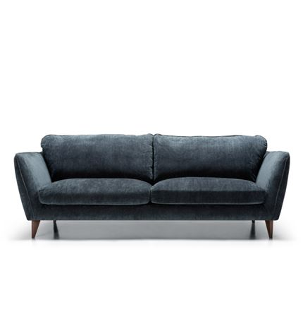Stella 3 seater Sofa in dark blue by Sits - quick lead time