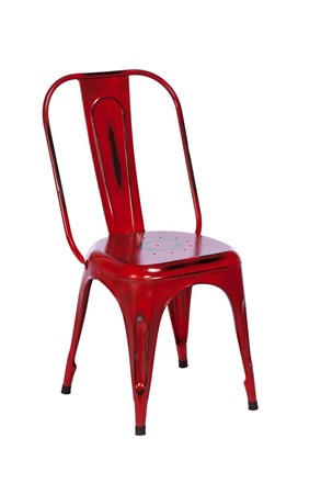 TOBY Metal Dining Chair - Red