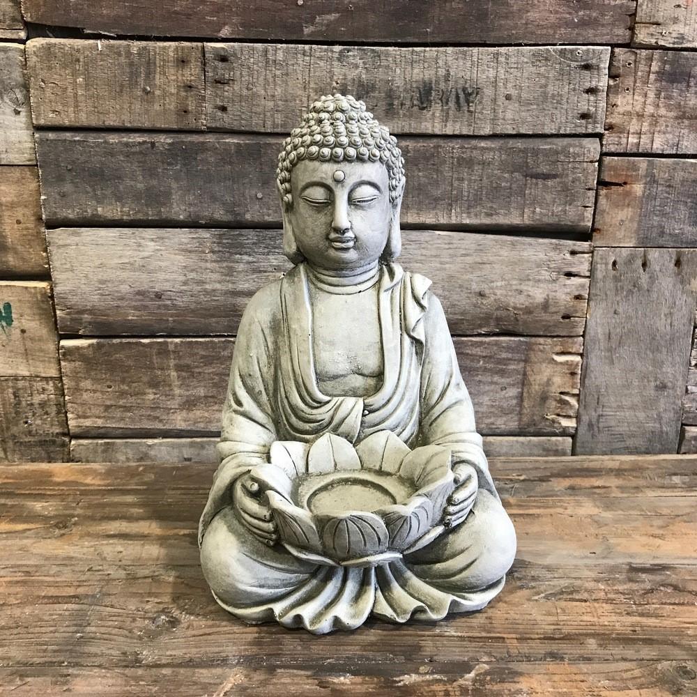 Tea Light Buddha - Stoneware