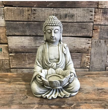 Tea Light Buddha - Stoneware