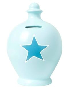 Terramundi money pot - Blue with Blue star