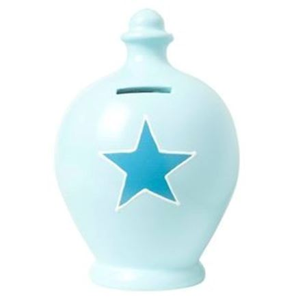 Terramundi money pot - Blue with Blue star