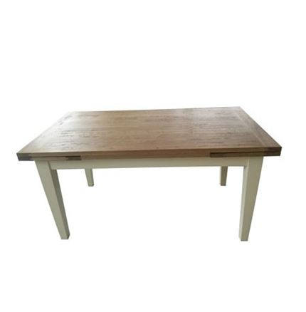 Valence Dining Table 160 Extending - CREAM