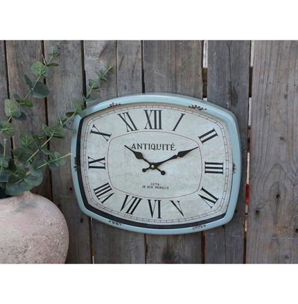 Wall Clock - Distressed Light Green