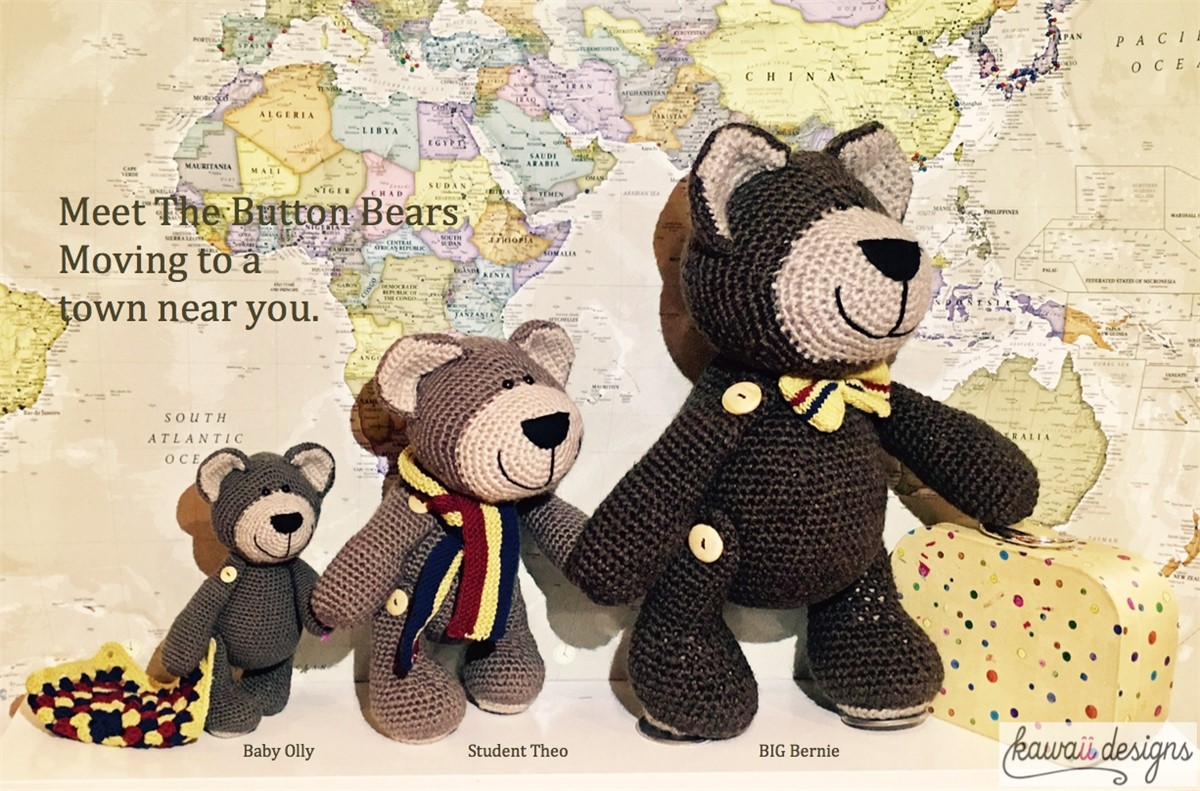 The Button Bears Crochet Pattern/Kit