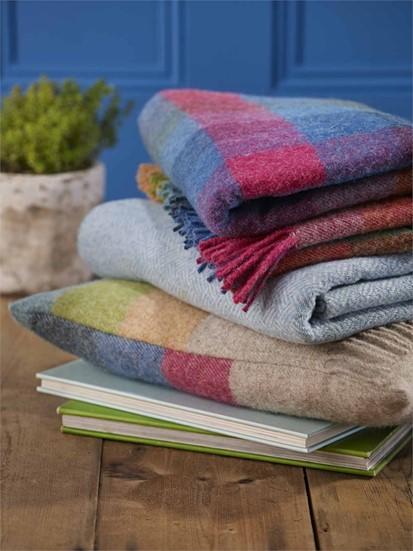 Wool Blanket Online British Made Gifts Harlequin Check