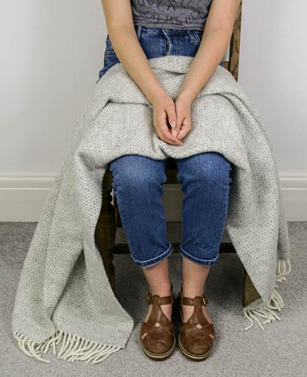 Wool Blanket Online. British Made Gifts. Honeycomb Wool