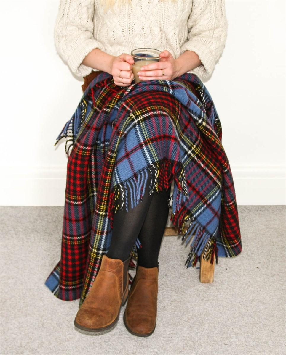 Wool Blanket Online British Made Gifts Anderson Tartan