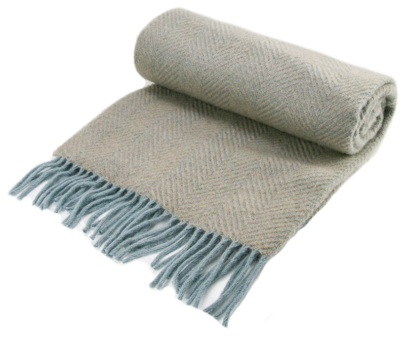 Wool Blanket Online British Made Gifts Herringbone Wool